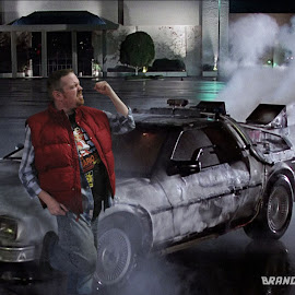 Riff To The Future by Brandi Donnelly - Illustration Sci Fi & Fantasy ( car, manipulations, back to the future, delorean )