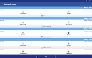 Screenshot of IPL 2015