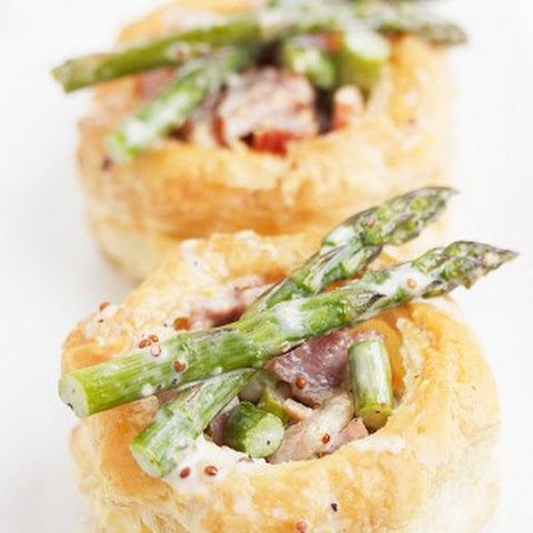 Ham and Asparagus Vol au Vent