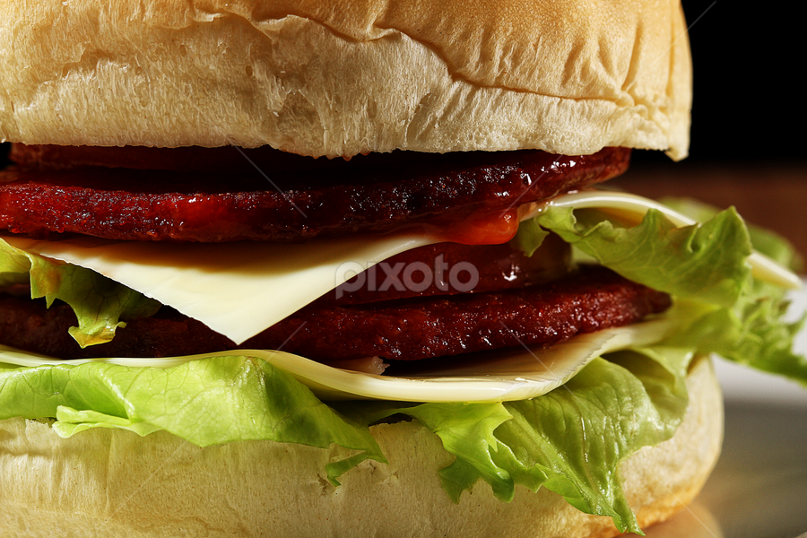 hamburger too.... by Ismed  Hasibuan  - Food & Drink Meats & Cheeses