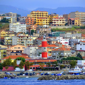 A Town in Italy by Michael Smith - City,  Street & Park  Skylines ( coastline, color, city, cruise, skyline, italy,  )