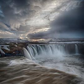 Godafoss by Peter Hallam - Landscapes Waterscapes ( waterfall, sprengisandur, þorgeir ljósvetningagoði, ne iceland, bárðardalur )