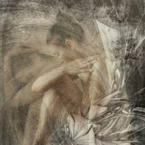 THOUGHTS by Carmen Velcic - Digital Art People ( abstract, body, nude, woman, she, flowers, digital )