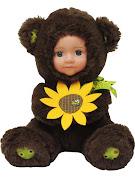 """Кукла """"Anna De Wailly"""" Медвежонок с цветочком 20см"""