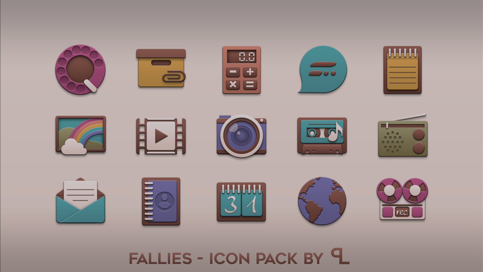 Fallies Icon pack - Chocolat Screenshot 0