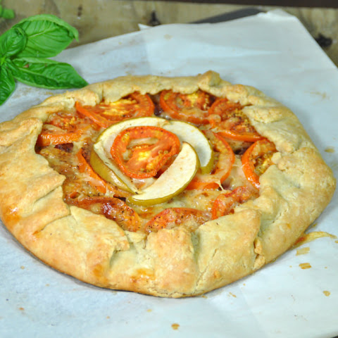 Tomato Apple Cheese Galette