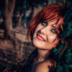 Carmen by Alexandru Tache - People Portraits of Women ( love, red hair, woman, natural, nature, eyes, red, nikon, beautiful, lips, light, lady, model, lonely )