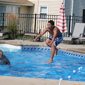 Pool jump by Kathleen Waterman - Babies & Children Children Candids