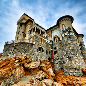 Homes : Castel Boccale (Livorno, Tuscany, Italy) by Gianluca Presto - Buildings & Architecture Homes ( clouds, home, tuscany, cliffs, hdr, cliff, from above, architecture, house, up, sky, castle, homes, italy, rocks,  )