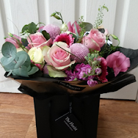 Luxury pink hand tied bouquet - The Florist Tunbridge Wells