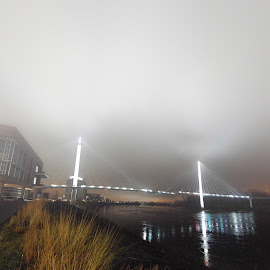Foggy night on the Mighty Mo. by Jeremy Rose - Instagram & Mobile Android