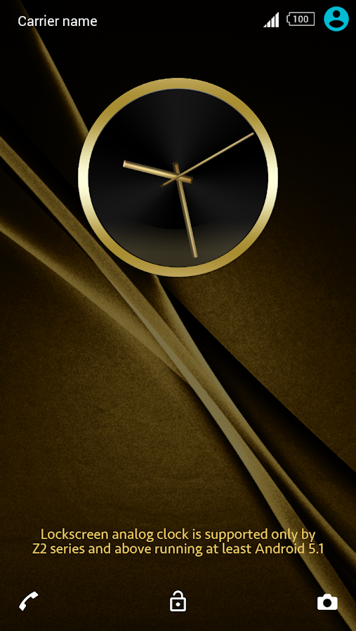 Black & Gold Theme for Xperia Screenshot 1