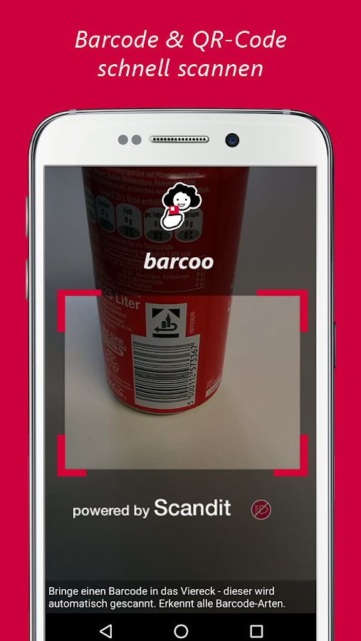 barcoo Barcode & QR Scanner Screenshot 0