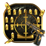 Golden Bullet Gun Keyboard Icon