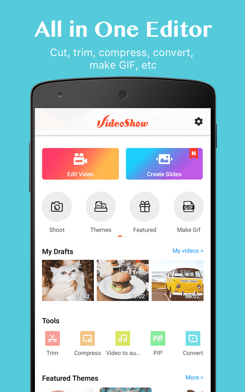 VideoShow-Video Editor, Video Maker, Beauty Camera Screenshot 0
