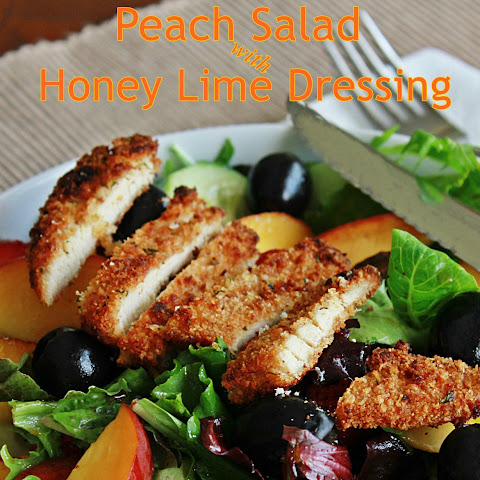 Peach Salad With Honey Lime Dressing