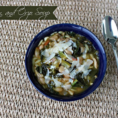 National Turkey Neck Soup Day | Kale, Bean, and Orzo Soup