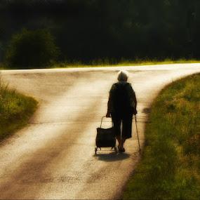 On the crossroad by Ruda Stančík - People High School Seniors