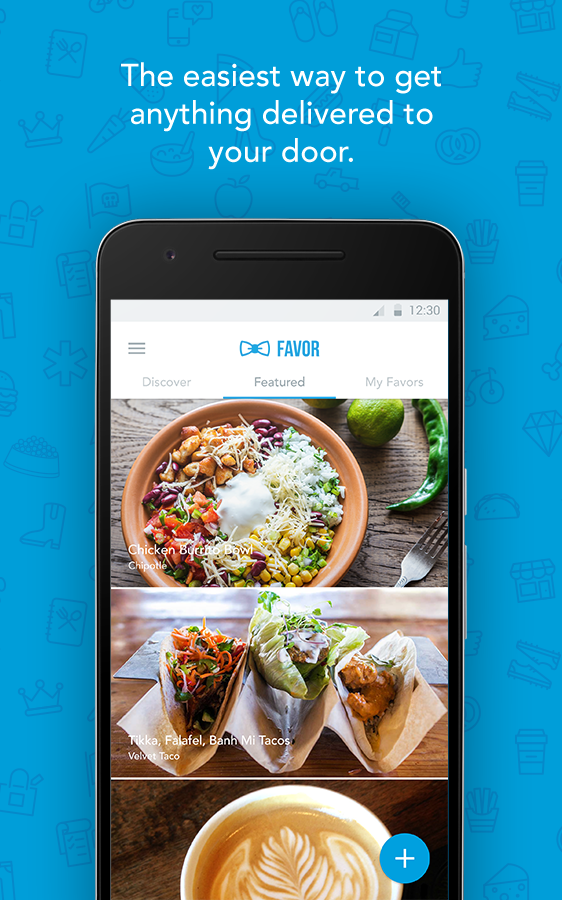Favor - Food Delivery Plus Screenshot 0