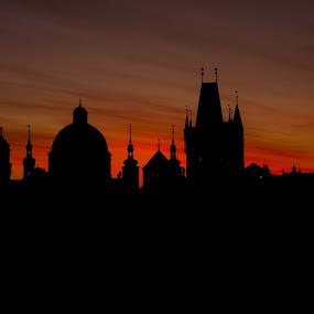 Prague  by Robert Grim - City,  Street & Park  Night ( czech republic, castle, night, bride, prague, sun, city,  )