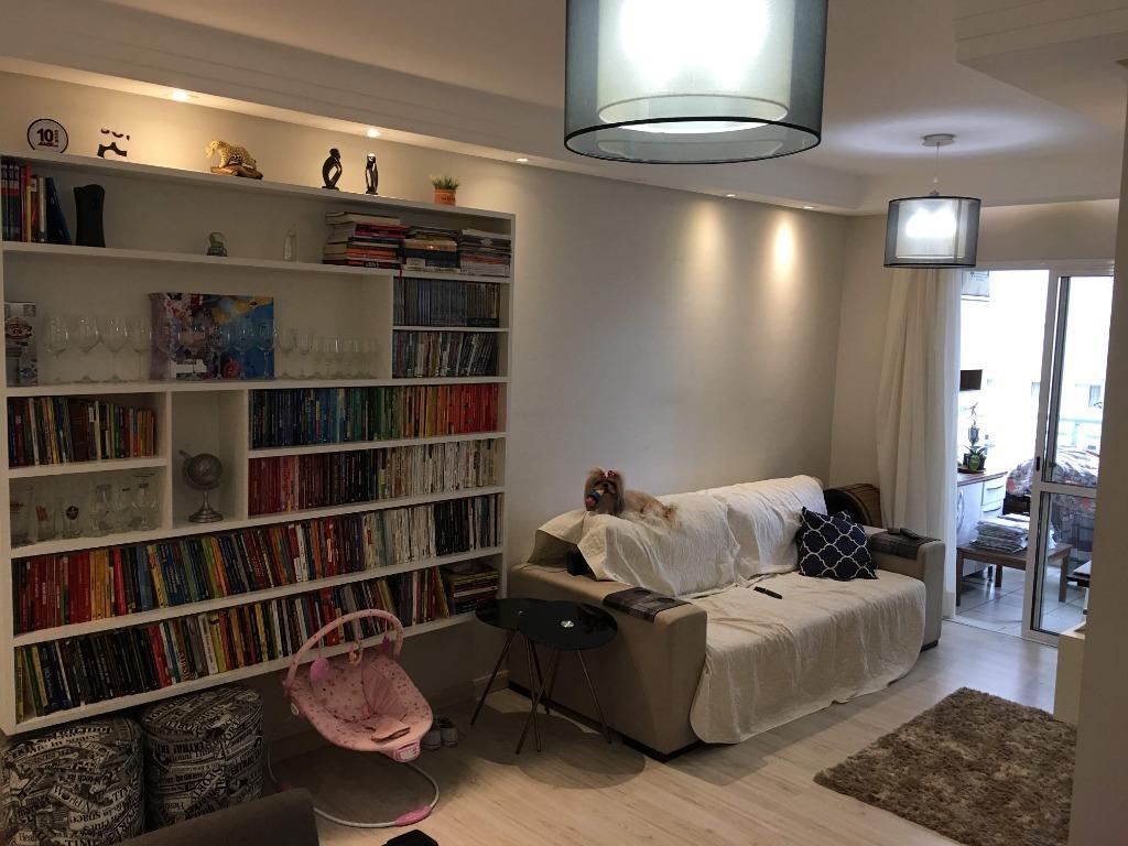 Apartamento com 3 dormitórios à venda, 86 m² por R$ 510.000,00 - Marapé - Santos/SP
