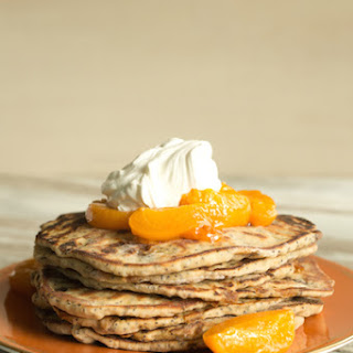 Apricot-Poppy Seed Flatbreads with Roasted Apricots and Yogurt Whipped Cream