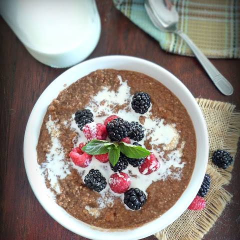Southern Chocolate Grits n Berries