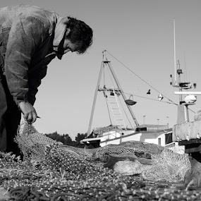 Fishermans work by Miranda Legović - People Portraits of Men