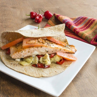 Mediterranean Salmon Wrap with Aleppo Peppers