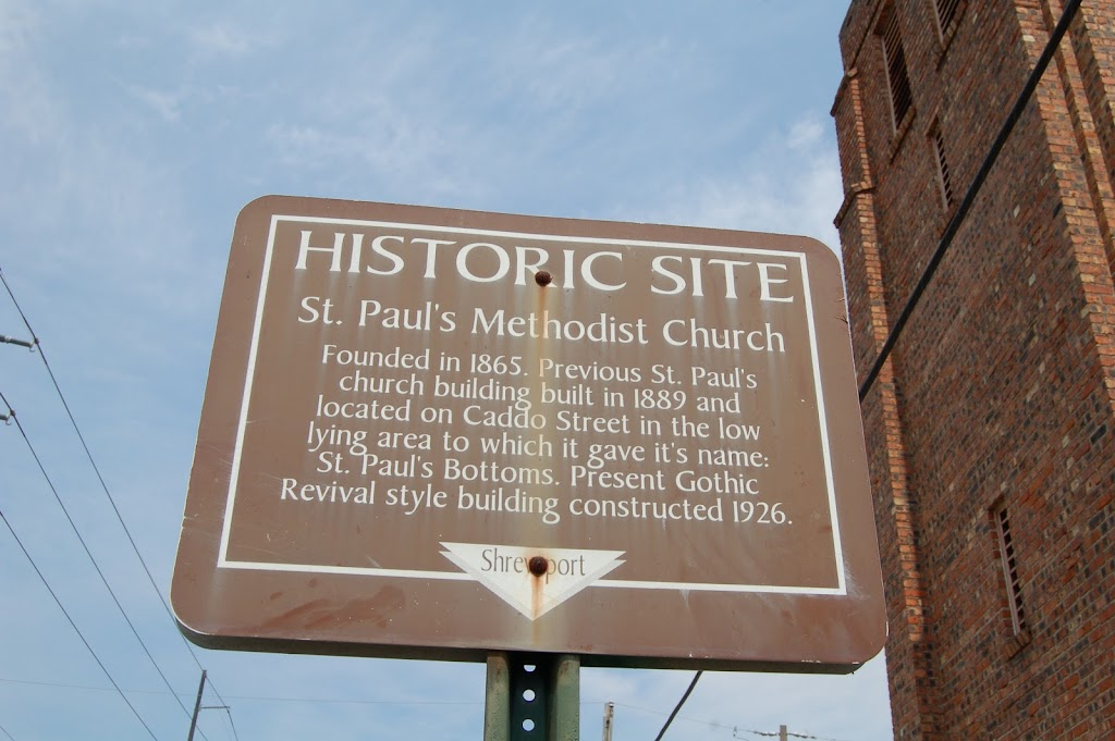 Founded 1865. Previous St. Paul's church building built 1889 and located on Caddo Street in the low lying area to it which gave it's name: St. Paul's Bottoms. Present Gothic Revival style building ...