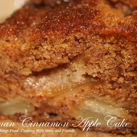 German Cinnamon Apple Cake