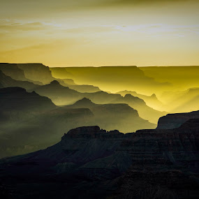 Grand Canyon Sunset by Scott Wood - Landscapes Sunsets & Sunrises ( clouds, sky, desert, sunset, arizona, d600, canyon, summer, valley, nikon, sun, grand canyon,  )