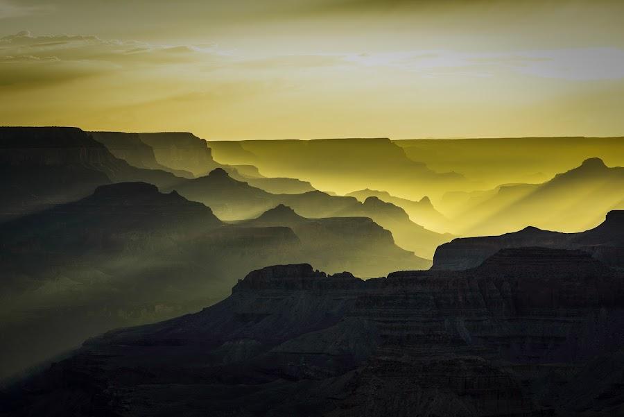 Grand Canyon Sunset by Scott Wood - Landscapes Sunsets & Sunrises ( clouds, sky, desert, sunset, arizona, d600, canyon, summer, valley, nikon, sun, grand canyon,  )