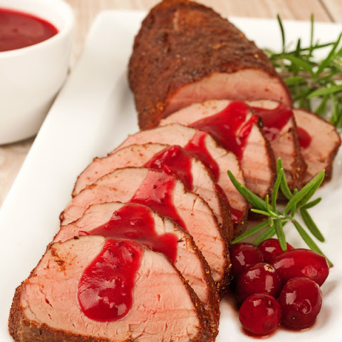 Spiced Pork Tenderloin with Cranberry-Cider Sauce