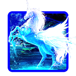 Blue Unicorn Keyboard Icon