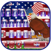 American flag Keyboard Theme APK for Bluestacks