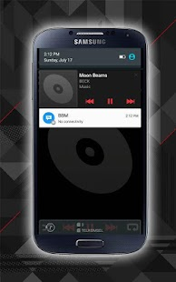 Black Music Player For Android - screenshot