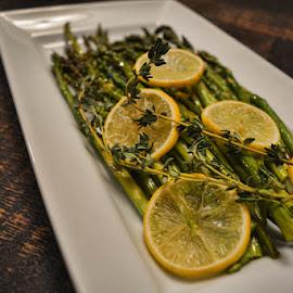 Asparagus by Deborah Russenberger - Food & Drink Plated Food