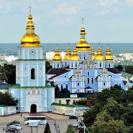 St. Michael's Golden - Domed Monastery by Tomasz Budziak - Buildings & Architecture Public & Historical ( ukraine, architecture )