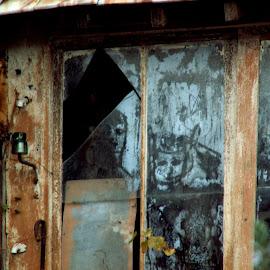 Suis-je le seul à les voir? by Mickael Lambert - City,  Street & Park  Neighborhoods ( fenêtre, personnages, étrange, mystérieux, regards, vitre )