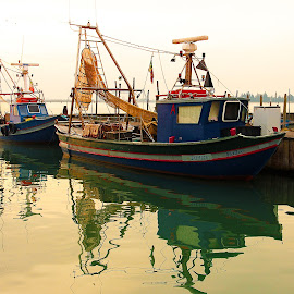 Fisherboat in Burano  by Gérard CHATENET - Transportation Boats