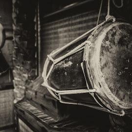 The Drum by Ebtesam Elias - Black & White Objects & Still Life