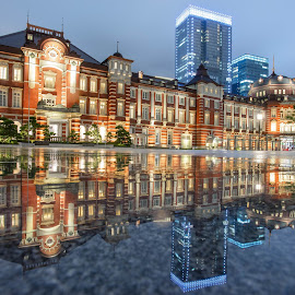 night view of tokyo station by Nurul Anwar - City,  Street & Park  City Parks