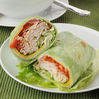 Healthy Turkey Club Wrap