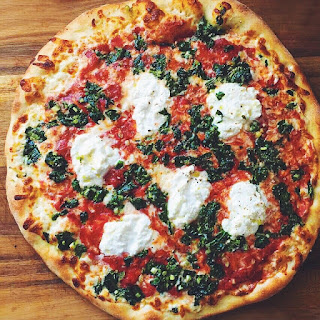 Wild Ramp and Ricotta Pizza