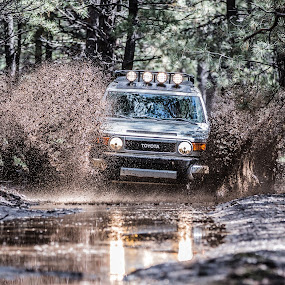 Deep Drive by Preston Trauscht - Transportation Automobiles ( four wheeling, fj, 4 wheeling, adventure, extreme, mud, cruiser, truck, suv, fj cruiser, toyota )