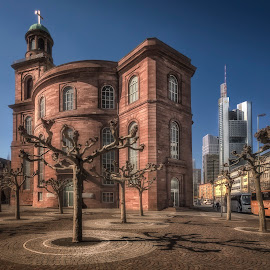 St. Paul's Church by Ole Steffensen - Buildings & Architecture Places of Worship ( frankfurt, tourist bus, main tower, skyscraper, church, st. paul's church, germany )