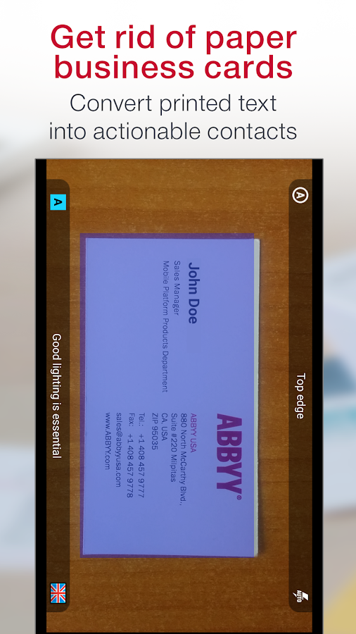 Business Card Reader Pro Screenshot 0