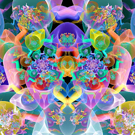 Juliascope ParPlot Symmetry by Peggi Wolfe - Illustration Abstract & Patterns ( digital, gift, color, wolfepaw, jwildfire, bright, pattern, abstract, décor, print, symmetry, unique, fractal, parplot, illustration, unusual, juliascope, fun )