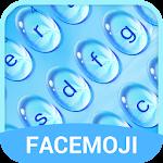 Blue Water Drop Keyboard Theme & Emoji Keyboard Icon